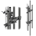 H D dish mount w/two 7' mast pipes (Each)