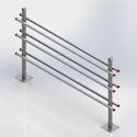 H-frame, 6-level w/ (2) 6' footed posts (Each)