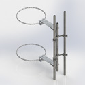 Single 2' chain mount with two 7' masts (Each)