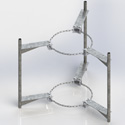 "Triple chain mount stand-off, 2-3/8"" OD (Each)"