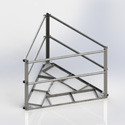 Multi sector roof frame, 7' face (Each)
