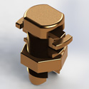 Spl Bolt,#2 sol-2/0 strd,Silicon Bronze (Each)