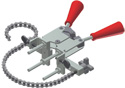 Vertical Chain Pipe Clamp w/Handle Clamp (Each)